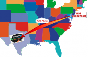 We'll be traveling from Delaware to Austin courtesy of hearo.fm and their wonderfully low standards.