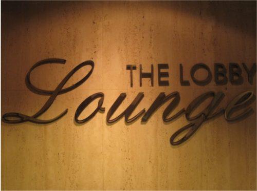 Hotel duPont Lobby Lounge sign